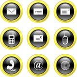 Iconos de la comunicación Imagen de archivo