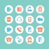 Iconos de la comunicación Imagenes de archivo