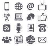 Iconos de la comunicación Fotografía de archivo libre de regalías