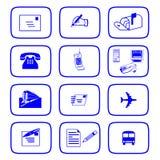 Iconos de la comunicación Foto de archivo libre de regalías