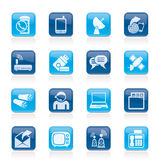 Iconos de la comunicación, de la conexión y de la tecnología Fotos de archivo libres de regalías