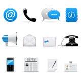 Iconos de la comunicación del Internet Imágenes de archivo libres de regalías