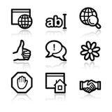 Iconos de la comunicación del Internet Imagen de archivo