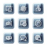 Iconos de la comunicación del Internet Fotografía de archivo