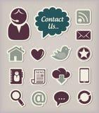 Iconos de la comunicación fijados Imagen de archivo