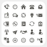 Iconos de la comunicación fijados Imágenes de archivo libres de regalías