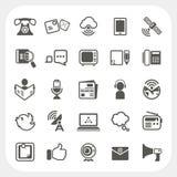 Iconos de la comunicación fijados Fotos de archivo libres de regalías