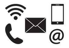 Iconos de la comunicación Ilustración del vector stock de ilustración