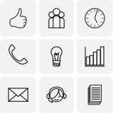 Iconos de la comunicación y del negocio Fotos de archivo libres de regalías