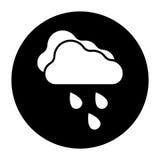 Iconos de la condición de la nube en otoño Foto de archivo libre de regalías