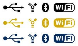 Iconos de la conexión Imagen de archivo libre de regalías