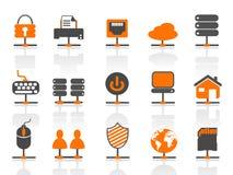 Iconos de la conexión de red fijados