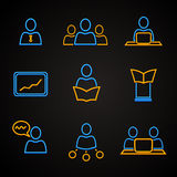 Iconos de la conferencia y de la gestión Fotos de archivo libres de regalías