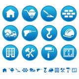Iconos de la construcción Imágenes de archivo libres de regalías