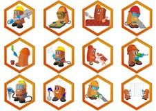 Iconos de la construcción Foto de archivo libre de regalías
