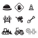 Iconos de la construcción de carreteras Imagenes de archivo