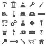 Iconos de la construcción en el fondo blanco libre illustration
