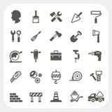 Iconos de la construcción fijados Imagen de archivo