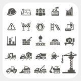Iconos de la construcción fijados Foto de archivo