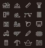 Iconos de la construcción y de la arquitectura Imágenes de archivo libres de regalías