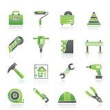 Iconos de la construcción y del edificio ilustración del vector