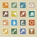 Iconos de la construcción fijados Imagenes de archivo