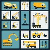 Iconos de la construcción fijados Imágenes de archivo libres de regalías