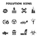 Iconos de la contaminación Foto de archivo libre de regalías