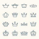 Iconos de la corona Foto de archivo