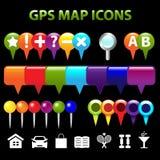 Iconos de la correspondencia del GPS Fotos de archivo