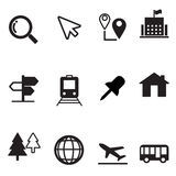 Iconos de la correspondencia fijados Fotos de archivo libres de regalías