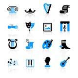 Iconos de la cultura ilustración del vector