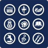 Iconos de la cultura y del arte (fije 12, parte 2) Imagen de archivo libre de regalías