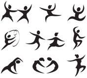 Iconos de la danza Imagen de archivo libre de regalías
