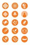 Iconos de la descripción de la ropa Fotografía de archivo libre de regalías