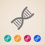Iconos de la DNA Fotografía de archivo