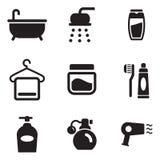 Iconos de la ducha Fotos de archivo