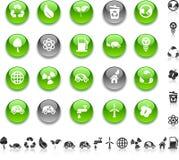 Iconos de la ecología. Fotos de archivo libres de regalías
