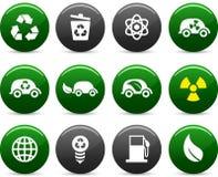 Iconos de la ecología. stock de ilustración