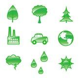 Iconos de la ecología stock de ilustración