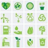 Iconos de la ecología libre illustration
