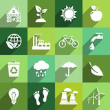 Iconos de la ecología Fotos de archivo