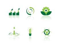 Iconos de la ecología Imagenes de archivo