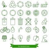 Iconos de la ecología Fotografía de archivo