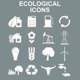 Iconos de la ecología Ejemplo del concepto del vector para el diseño Fotos de archivo libres de regalías