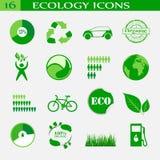 Iconos de la ecología, emblema Imagen de archivo libre de regalías