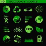 Iconos de la ecología, emblema Fotos de archivo