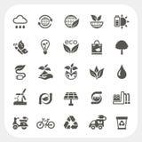 Iconos de la ecología fijados Imagen de archivo