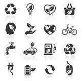 Iconos de la ecología fijados. ilustración del vector