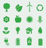 Iconos de la ecología fijados Imagen de archivo libre de regalías
